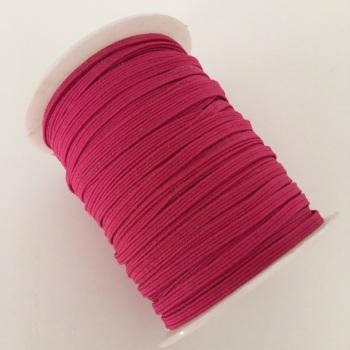 3mm Skinny Elastic - Raspberry Pink