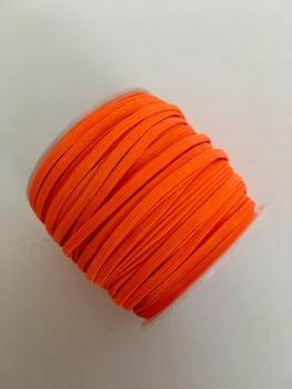 3mm Skinny Elastic - Neon Orange