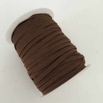 3mm Skinny Elastic - Brown