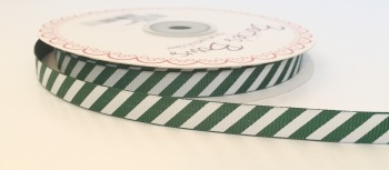 9mm Grosgrain Green Candy Stripe