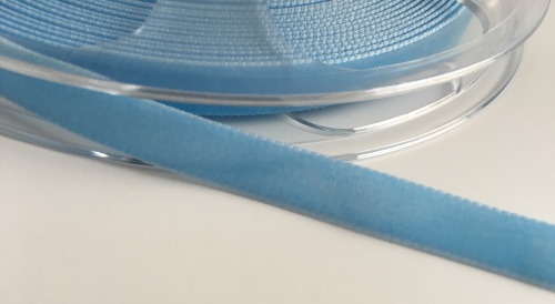 9mm Velvet Ribbon - Baby Blue
