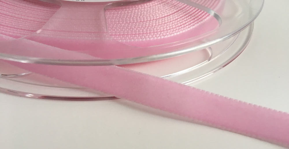 9mm Velvet Ribbon - Baby Pink