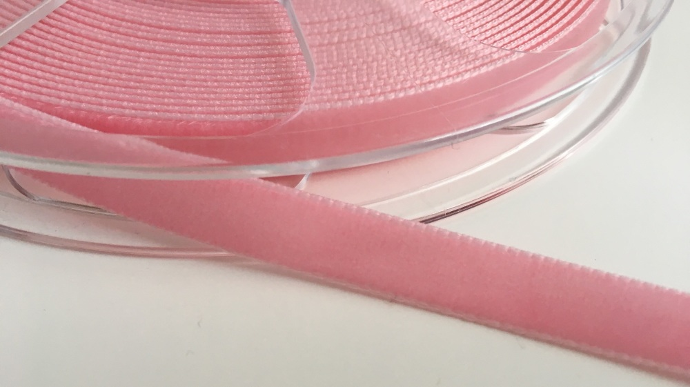 9mm Velvet Ribbon - Blush Pink