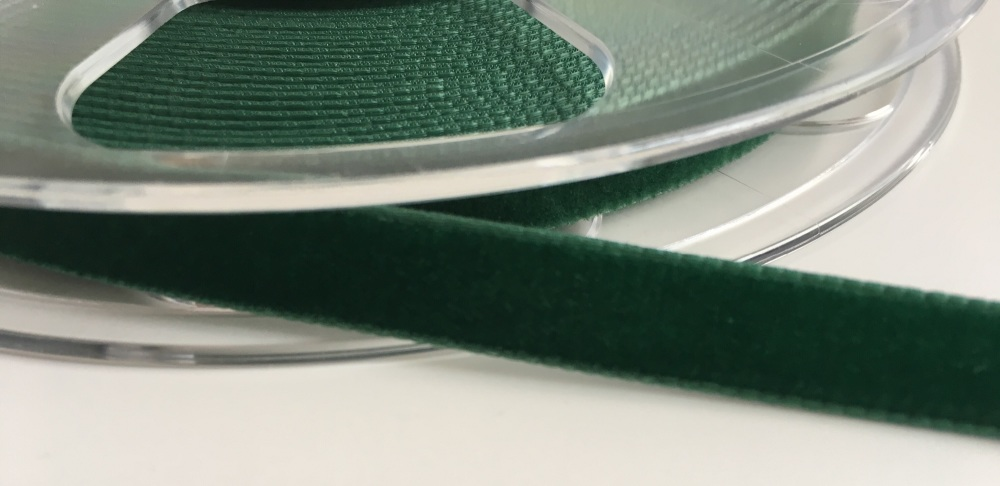 9mm Velvet Ribbon - Bottle Green