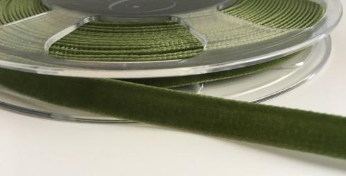9mm Velvet Ribbon - Moss