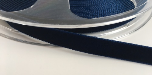 9mm Velvet Ribbon - Navy
