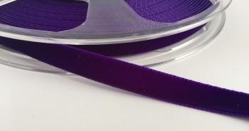 9mm Velvet Ribbon - Purple