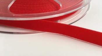 9mm Velvet Ribbon - Red