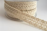 Double Edged Crotchet Cotton Lace 25mm - Ivory