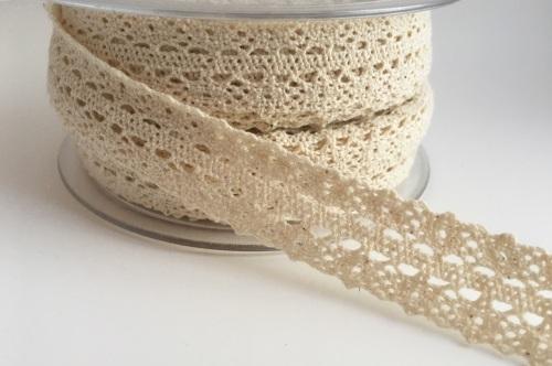 Double Edged Crotchet Cotton Lace 25mm - Ivory