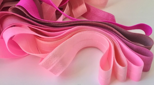15mm Fold Over Elastic - Pinks