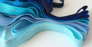 "15mm 5/8"" Fold Over Elastic - Blues"