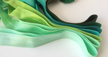 "15mm 5/8"" Fold Over Elastic - Greens"