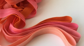 "15mm 5/8"" Fold Over Elastic - Oranges and Corals"