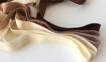 "15mm 5/8"" Fold Over Elastic - Neutrals"