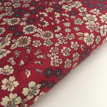 Frou Frou Cotton Lawn - Fleuri 21 Rouge