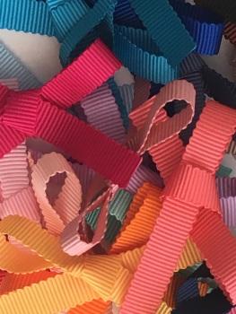 10mm Scalloped Petersham Ribbon - 38 Colours