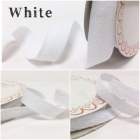 White Cotton Herringbone Twill - 3 Widths