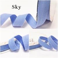Sky Blue Cotton Herringbone Twill - 3 Widths
