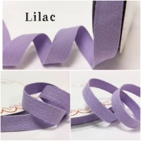 Lilac Cotton Herringbone Twill - 3 Widths