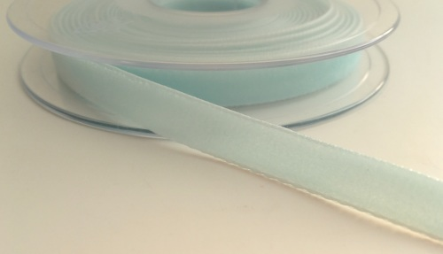 9mm Velvet Ribbon - Light Blue
