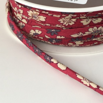 Frou Frou 7mm Spaghetti Cord Fleuri 21 Rouge - BY THE METRE