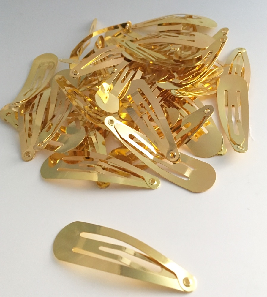 25 x Gold Snap Clip 5cm