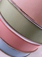 25mm Scalloped Petersham Ribbon - 11 Colours