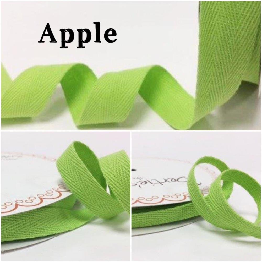 Apple Cotton Herringbone Twill - 3 Widths