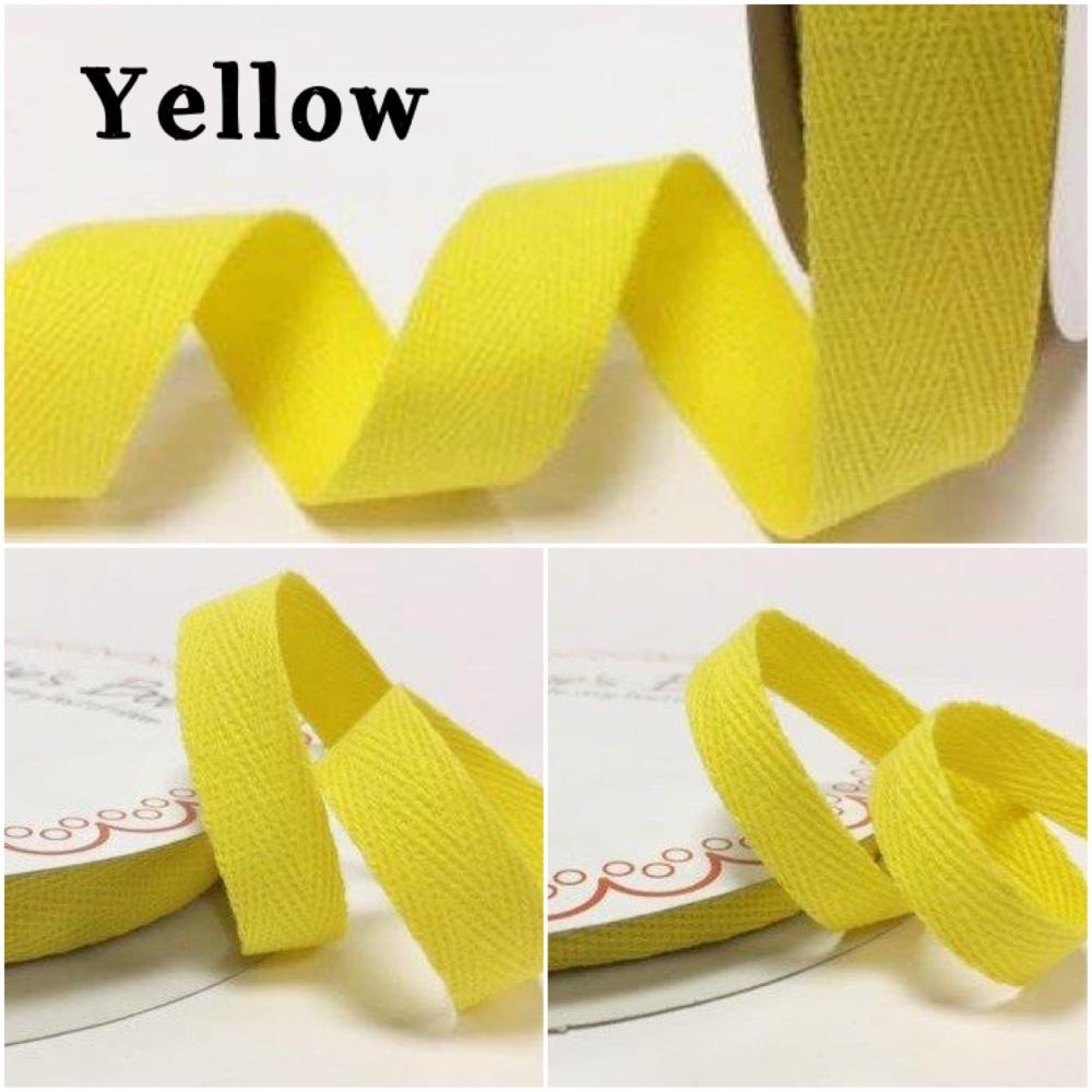 Yellow Cotton Herringbone Twill - 3 Widths