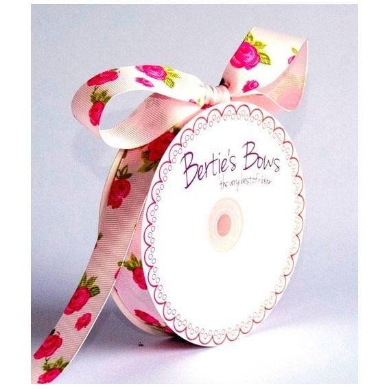 16mm Floral Grosgrain - Pink
