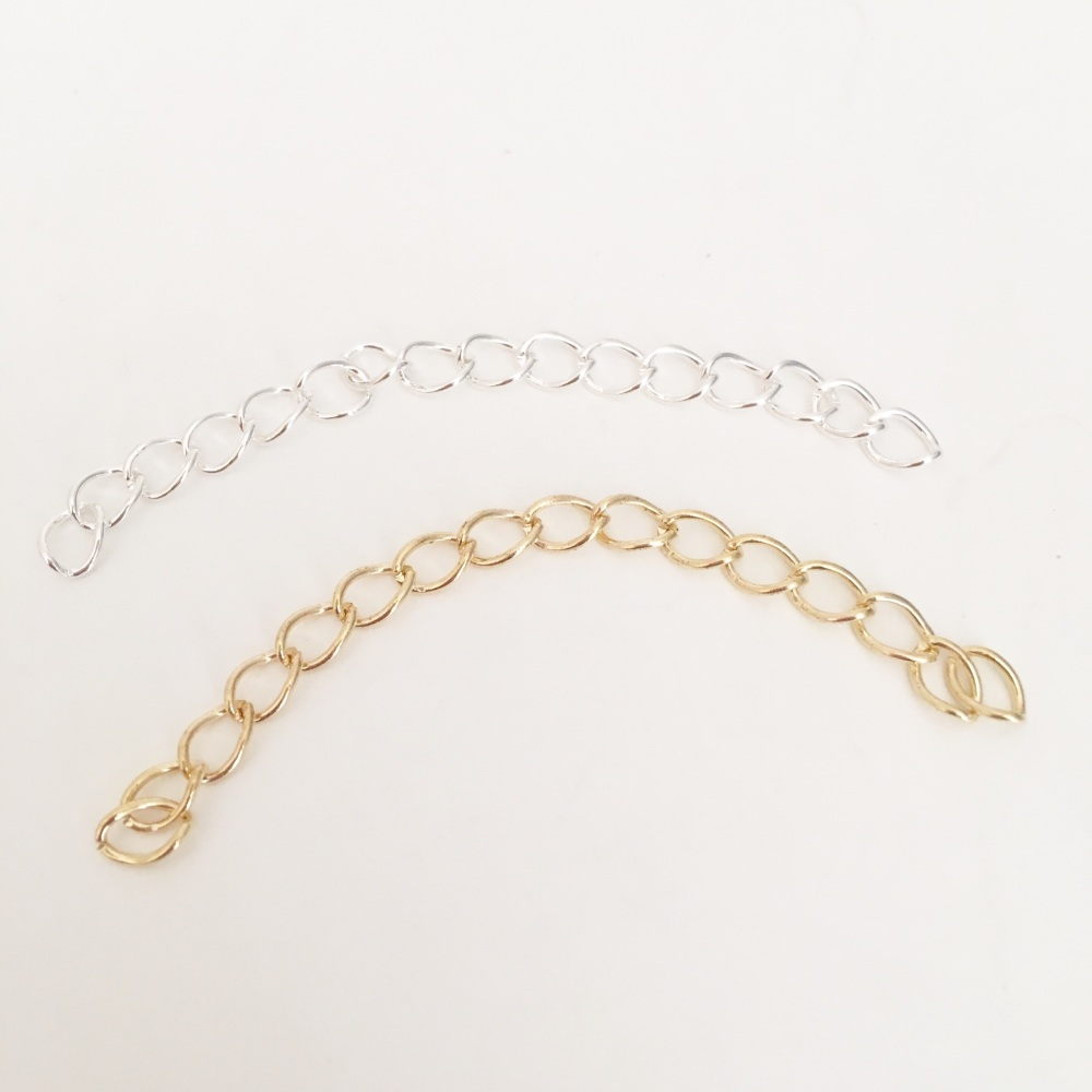 Jewellery Chains 0.7mm x 6cm x 10 - Silver or Gold