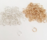 Jewellery Ring Connectors 0.7mm x 5mm X 20 - Silver or Gold