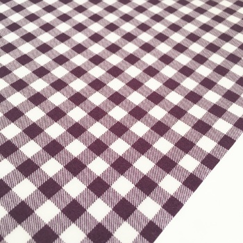 "Single Sided Aubergine 1/4"" Gingham by Sevenberry"