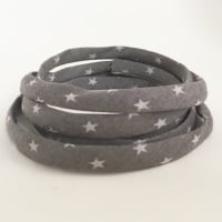 Frou Frou 7mm Spaghetti Cord Étoile Stars - Taupe Grey