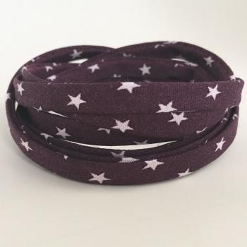 Frou Frou 7mm Spaghetti Cord Étoile Stars - Prune Délicate