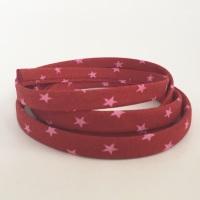 Frou Frou 7mm Spaghetti Cord Étoile Stars - Rubis Éclatant