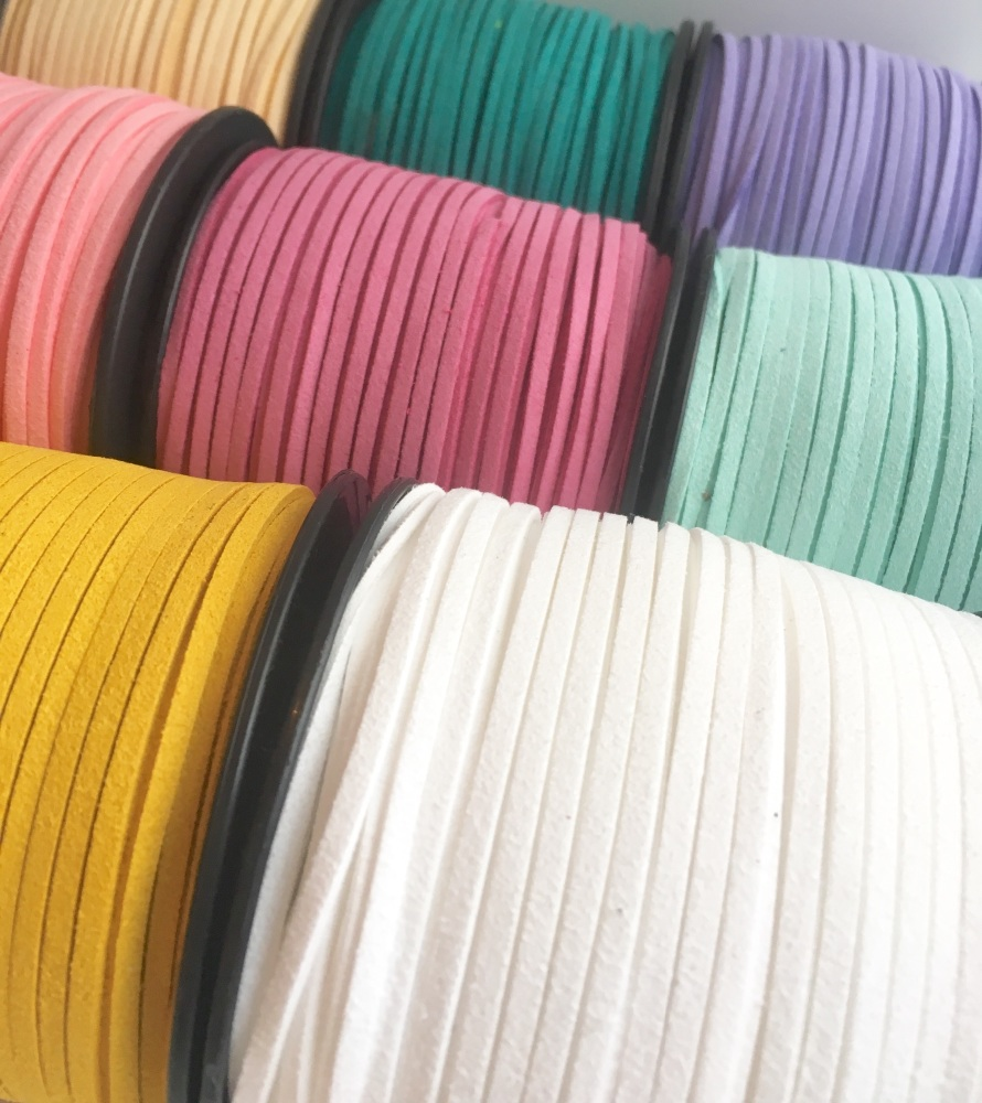 3mm wide Faux Suede Cord