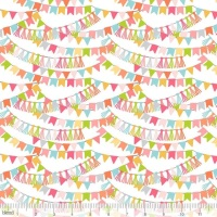 REMNANT 75CM X 110CM Calliope Blue By Blend -  Bannerline Pink