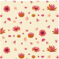 Serengeti by Dashwood Studio - Cream Flower