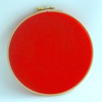 <!--042-->Bright Red Wool Blend Felt