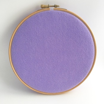 Fields of Lilacs Wool Blend Felt