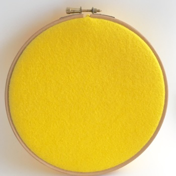 Yellow Wool Blend Felt