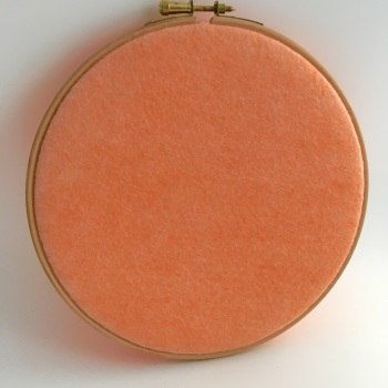 Georgia Peach Wool Blend Felt