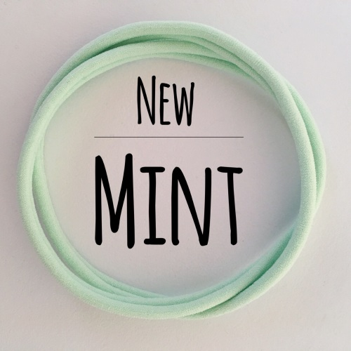 Mint Dainties Nylon Headbands