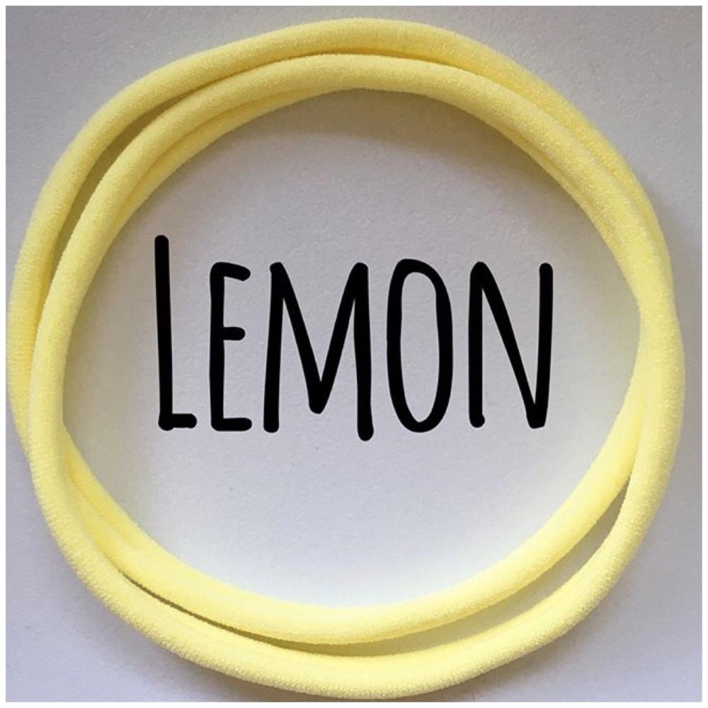 Lemon Dainties Nylon Headbands - ARRIVING SOON!!!!