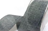 Faux Linen Ribbon 25mm - Charcoal