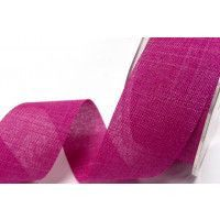 Faux Linen Ribbon 25mm and 38mm - Fuchsia