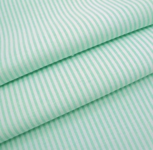 Chambray Candy 3mm Stripe - Mint