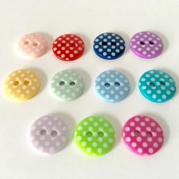 13mm Polka Dot Buttons